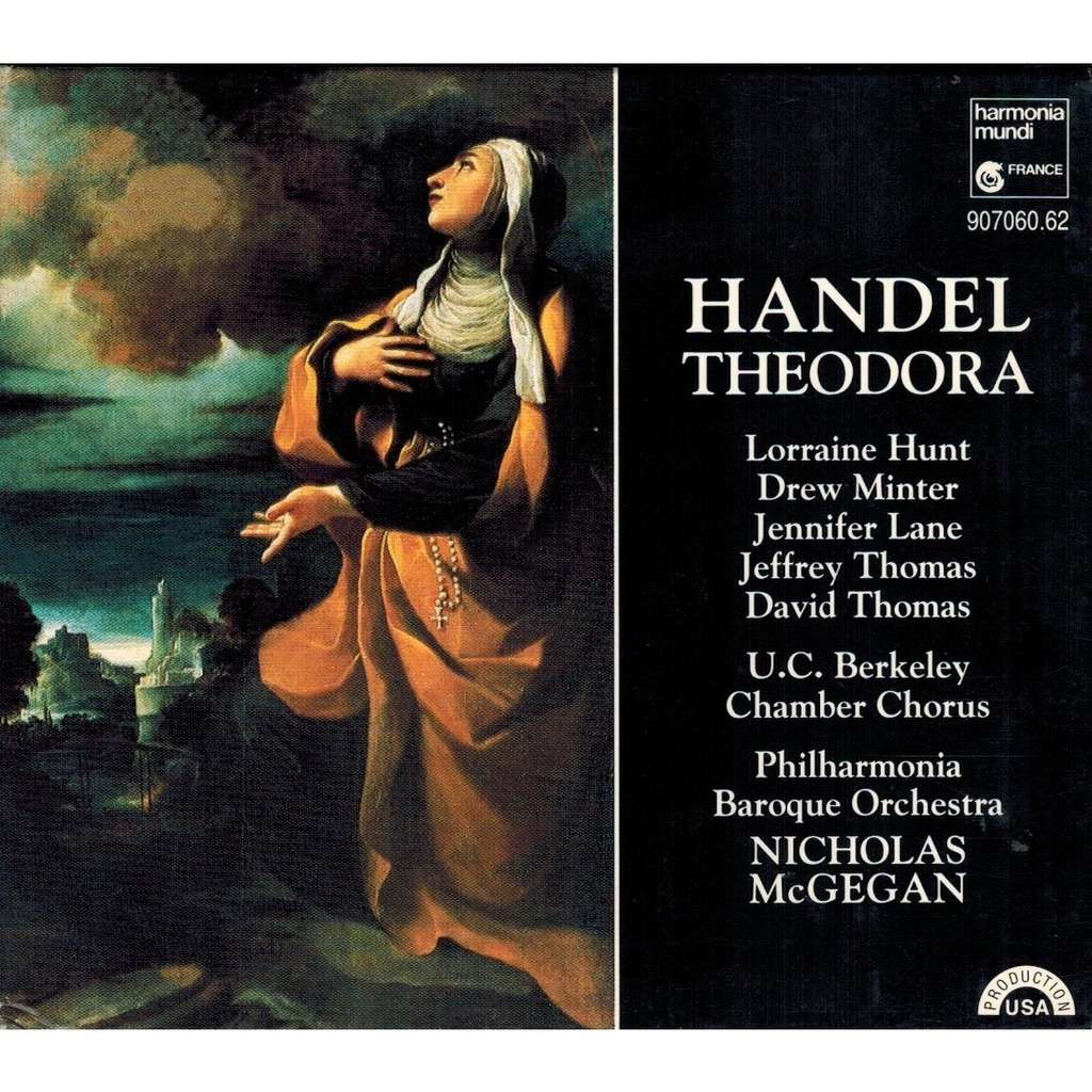 Handel - Hunt, Minter, Lane, Thomas, Nicholas McGegan Theodora
