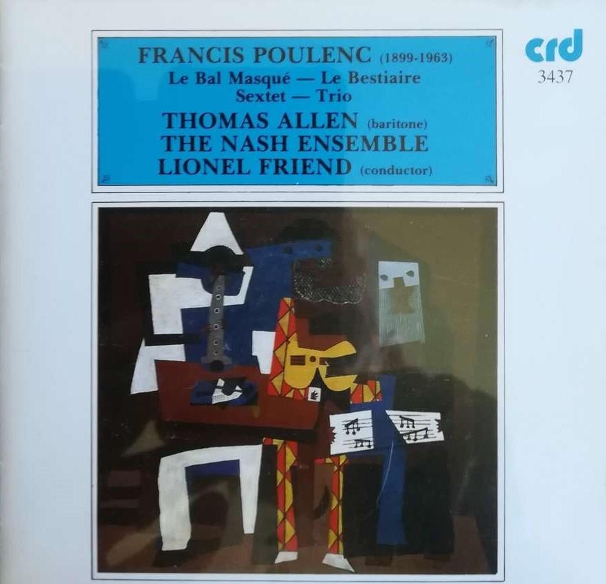 Poulenc - Thomas Allen, Lionel Friend Le Bal Masque Vinyl