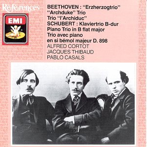 Beethoven / Schubert - Alfred Cortot, Jacques Thibaud, Pablo Casals Trios CD