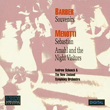 Barber / Menotti - Andrew Schenck, New Zealand Symphony Orchestra Souvenirs / Sebastian CD