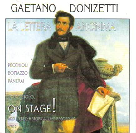 Donizetti - Pecchioli, Bottazzo, Panerai, Caracciolo La Lettera Anonima Vinyl