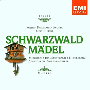 Jessel - Koller, Dallapozza, Lindner, Kusche, Finke, Willy Mattes Schwarzwaldmadel CD