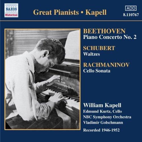 Beethoven, Schubert, Rachmaninov, William Kapell Great Pianists - Kapell