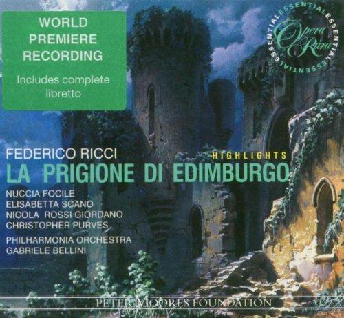 Ricci - Nuccia Focile, Elisabeth Scano, Nicola Rossi Giordano, Christopher Purves, Gabriele Bellini La Prigione Di Edimburgo Vinyl