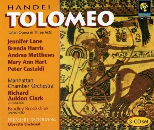 Handel - Lane, Harris, Matthews, Hart, Castaldi, Richard Auldon Clark, Brookshire Tolomeo