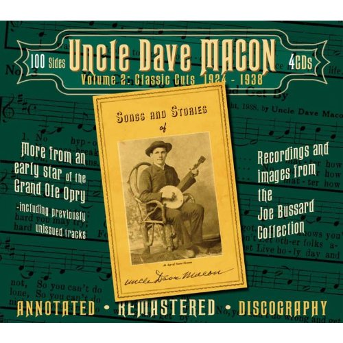 Macon, Uncle Dave Volume 2: Classic Cuts 1924 - 1938 CD