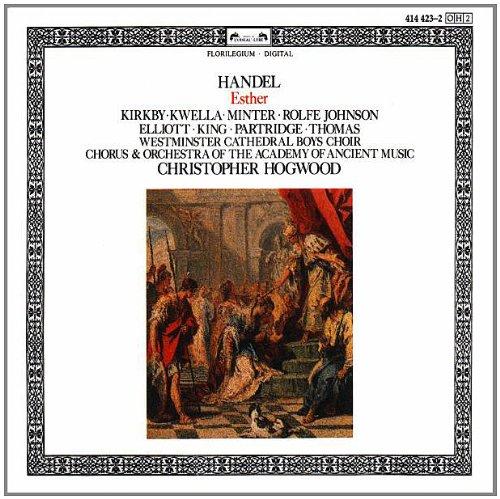 Handel - Kirkby, Kwella, Johnson, Elliott, King, partridge, Thomas, Christopher Hogwood Esther