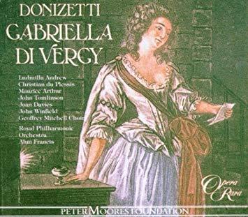 Donizetti - Andrew, Plessis, Arthur, Tomlinson, Davies, Winfield, Alun Francis Gabriella Di Vergy Vinyl