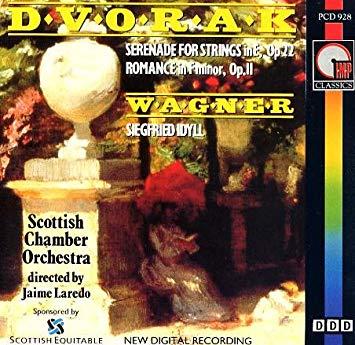 Dvorak / Wagner - Jaime Laredo Serenade for Strings in E, Op. 22, Romance in F minor, Op. 11 / Siegfried Idyll Vinyl