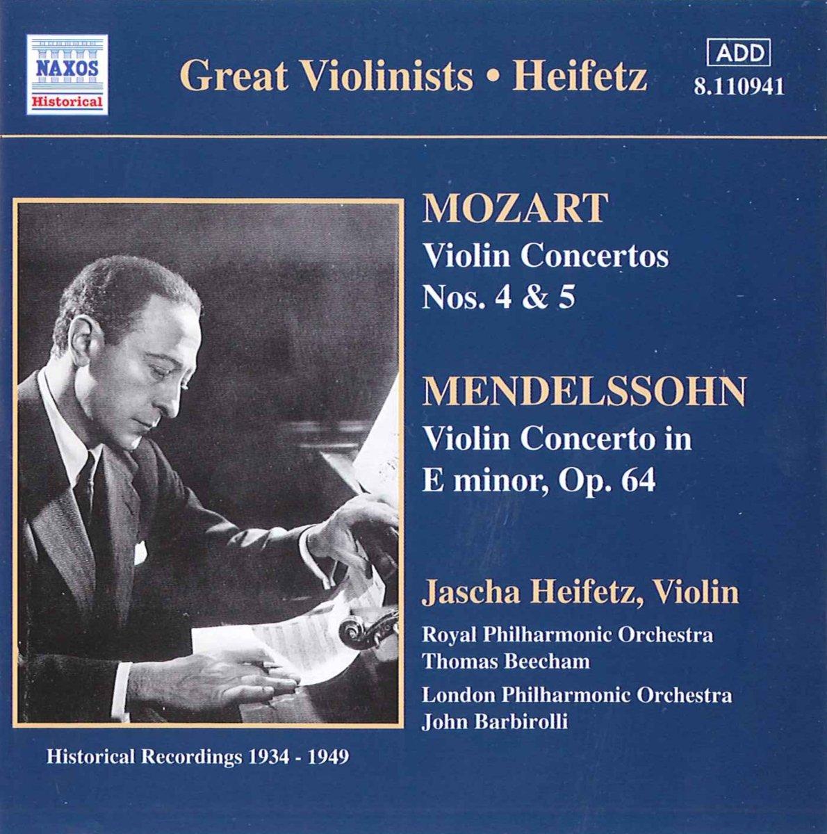 Mozart, Mendelssohn, Jascha Heifetz Great Violinists - Heifetz