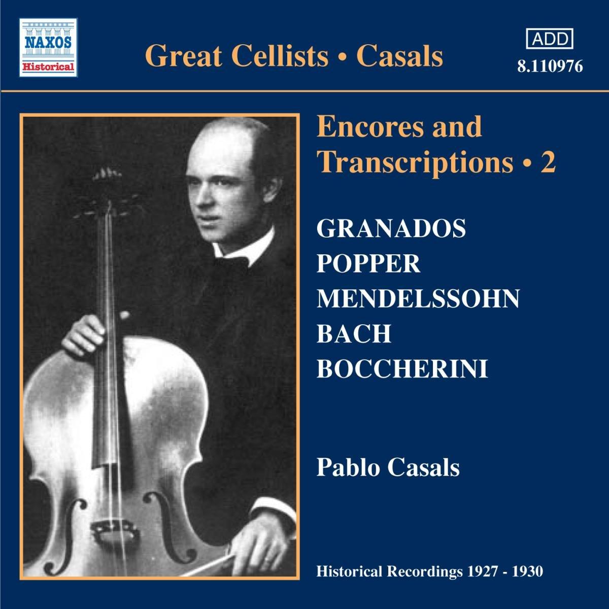 Casals, Pablo Encores and Transcriptions 2 Vinyl