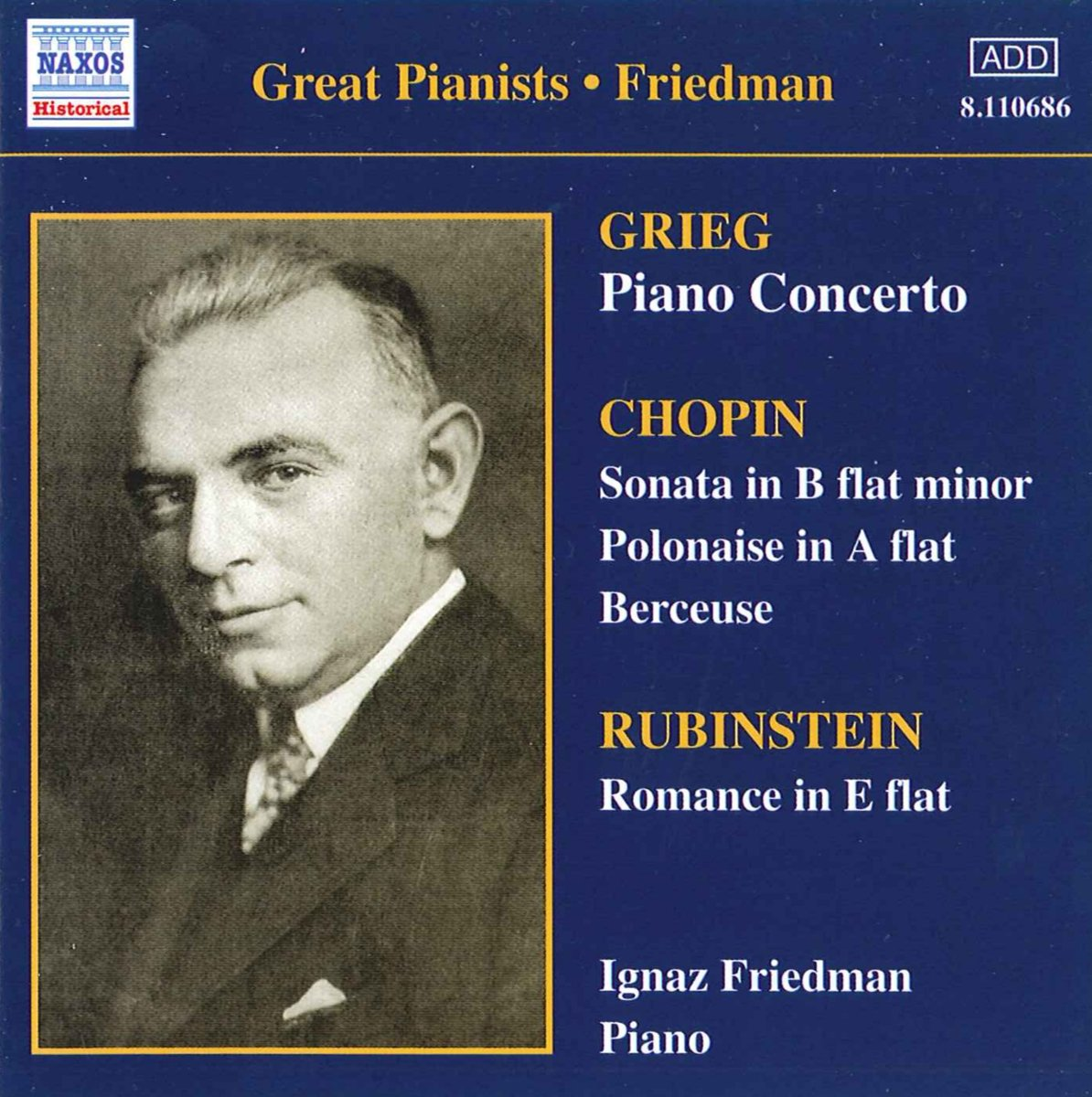 Friedman, Ignaz Complete Recordings, Volume 2 Vinyl