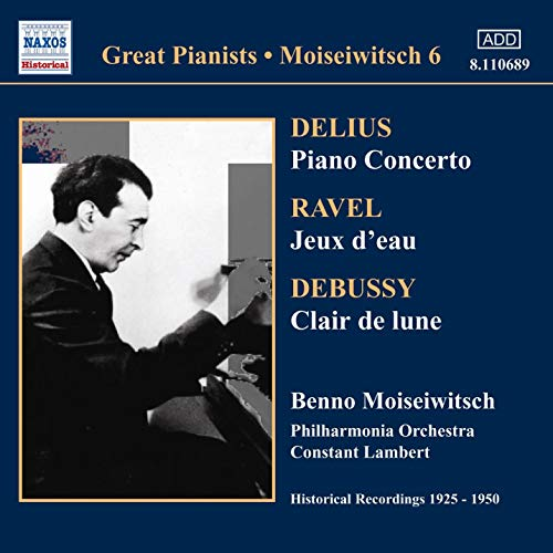 Delius / Ravel / Debussy - Benno Moiseiwitsch Piano Concerto Vinyl
