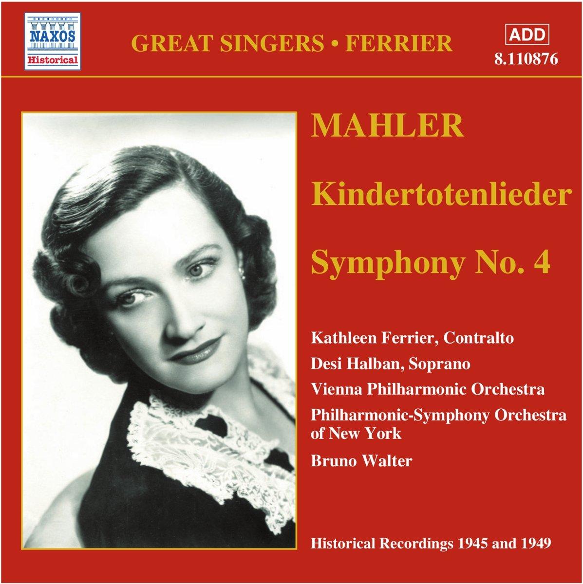 Mahler, Kathleen Ferrier Great Singers - Ferrier