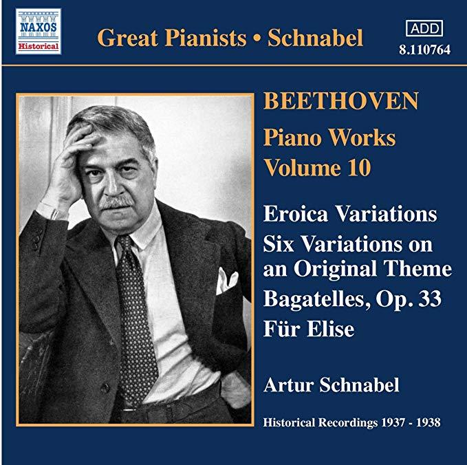 Beethoven - Artur Schnabel Piano Works Vol. 10 - Eroica Variations CD