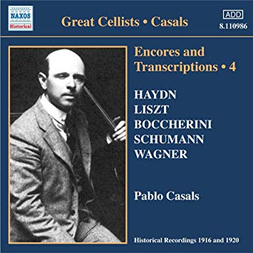Casals, Pablo Encores and Transcriptions 4 Vinyl