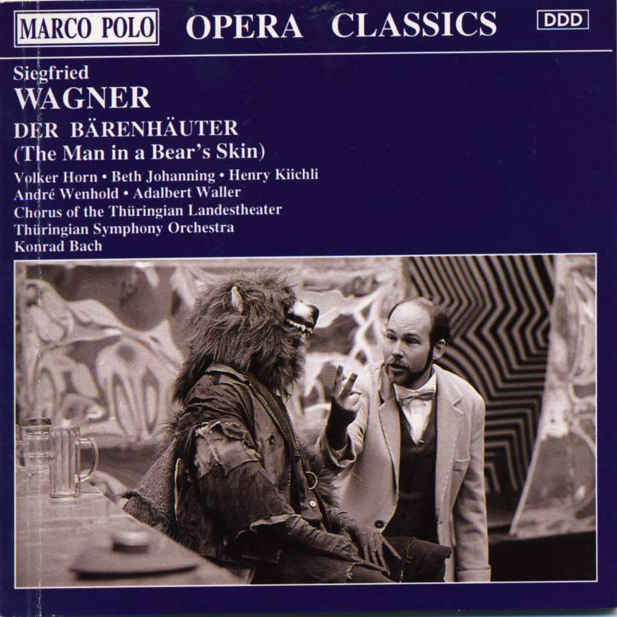 Wagner - Horn, Johanning, Kiichli, Wenhold, Waller, Konrad Bach Der Barenhauter (The Man in a Bear's Skin) CD