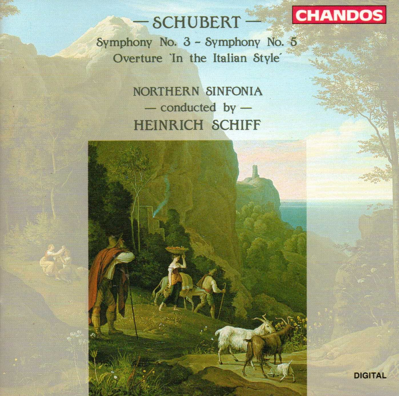 Schubert - Heinrich Schiff Symphony No. 3 / Symphony No. 5 / Overture 'In The Italian Style'