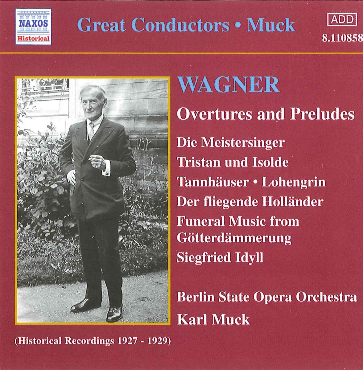 Wagner - Karl Muck Wagner Overtures and Preludes CD