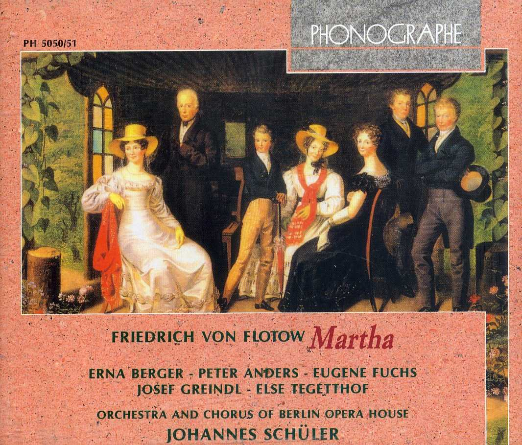 Flotow - Berger, Anders, Fuchs, Greindl, Tegetthof, Johannes Schuler Martha Vinyl