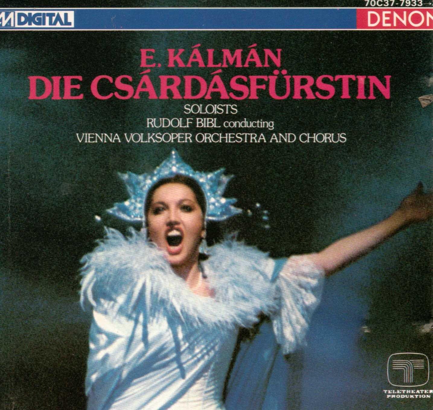 Kalman - Rudolf Bibl, Vienna Volksoper And Chorus Die Csardasfurstin