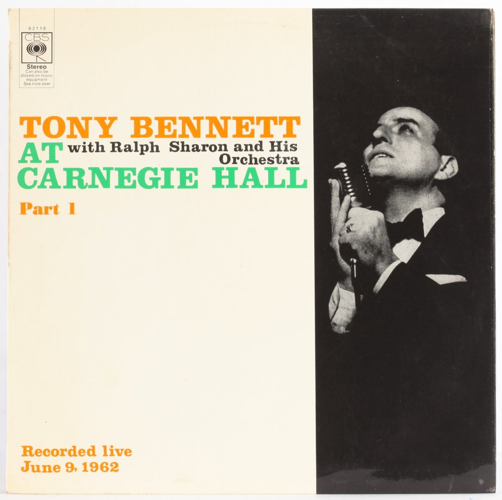 Bennett, Tony Tony Bennett At Carnegie Hall Part 1 Vinyl