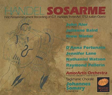 Handel - Aler, Baird, Minter, Fortunato, Lane, Watson, Pellerin, Johannes Somary Sosarme CD