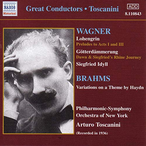 Wagner, Brahms, Arturo Toscanini Great Conductors - Toscanini CD