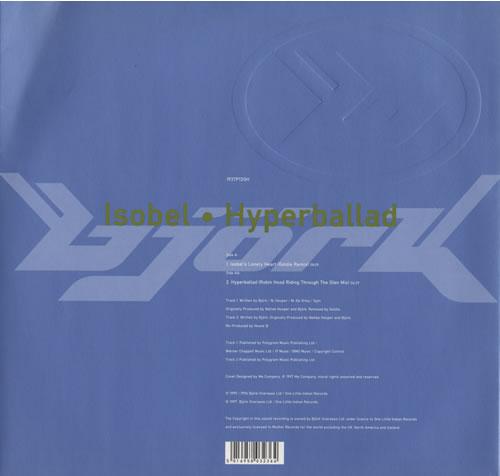 Bjork Isobel • Hyperballad  Vinyl