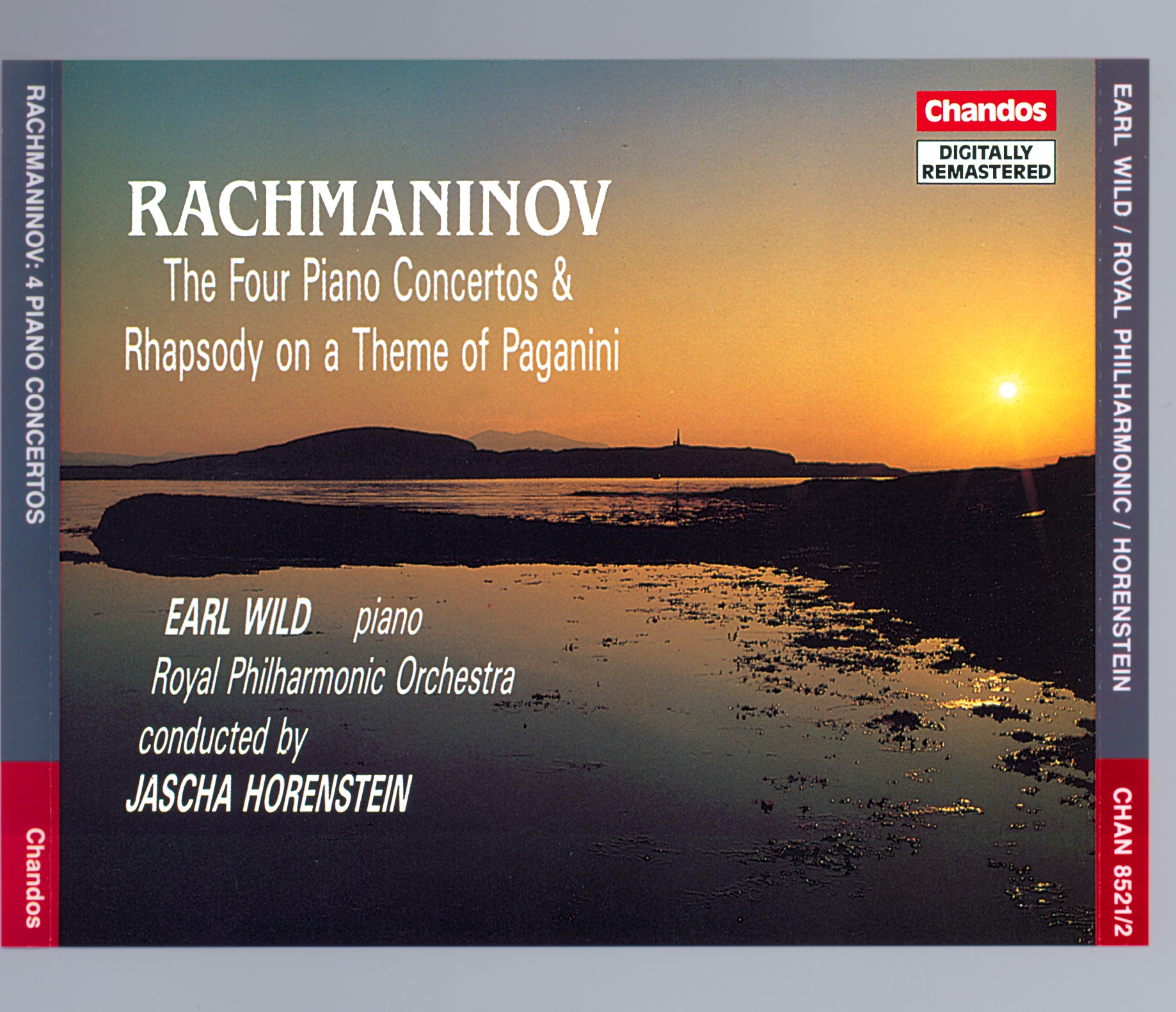 Rachmaninov - Earl Wild, Royal Philharmonic Orchestra, Jascha Horenstein The Four Piano Concertos & Rhapsody On A Theme Of Paganini CD