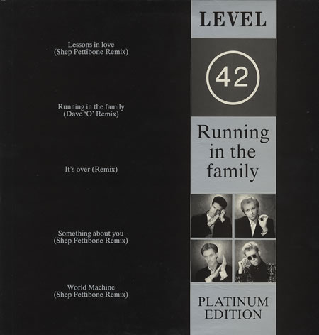 Level 42 Running In The Family - Platinum Edition