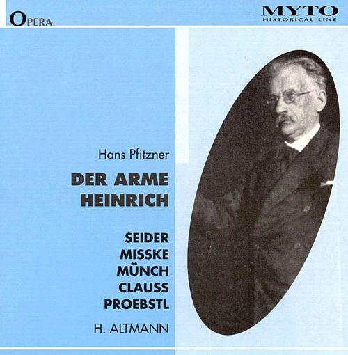 Pfitzner - Seider, Misske, Munch, Clauss, Proebstl Der Arme Heinrich Vinyl