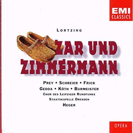 Lortzing - Peter Schreier, Erika Köth, Fred Teschler, Hermann Prey, Robert Heger Zar und Zimmermann Vinyl