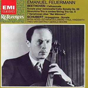 Beethoven / Schubert - Emanuel Feurmann, Myra Hess, Szymon Goldberg, Paul Hindemith, Theo Van Der Pas, Gerald Moore Cellosonate / Arpeggione - Sonate