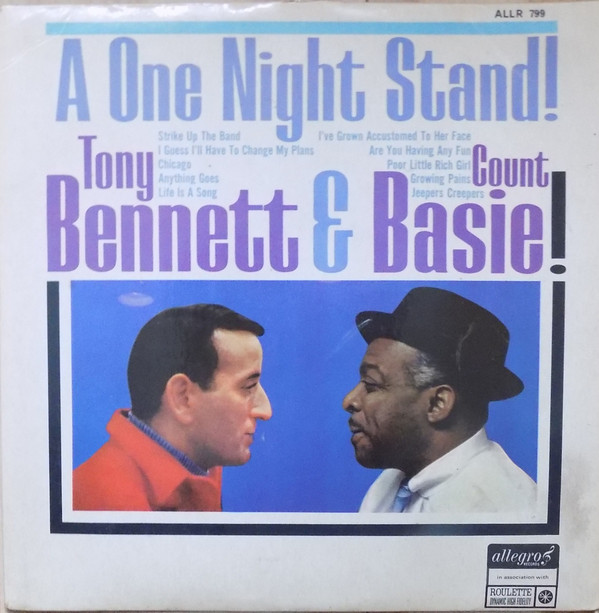 Tony Bennett With Count Basie Orchestra One Night Stand Vinyl