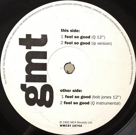 GMT Feel So Good Vinyl