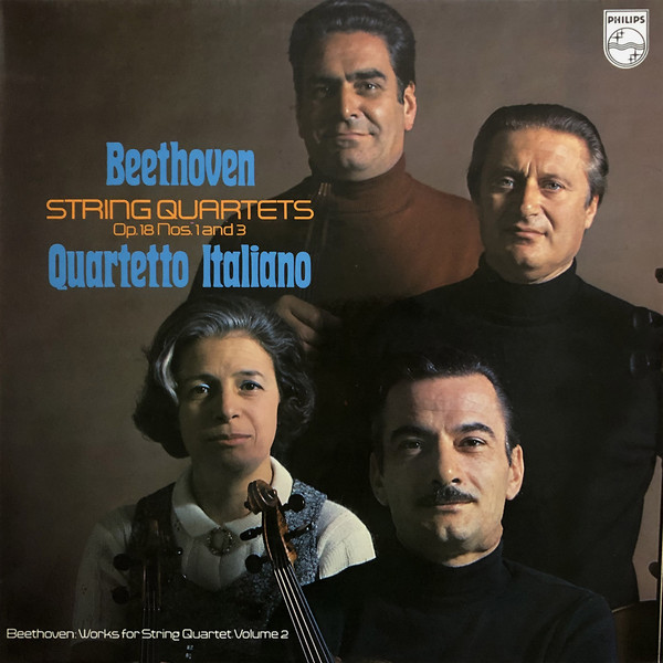 Beethoven - Quarteto Italiano String Quartets Op. 18 Nos. 1 and 3 Vinyl