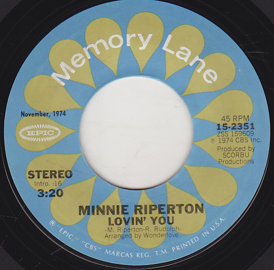 Riperton, Minnie Lovin' You / Inside My Love