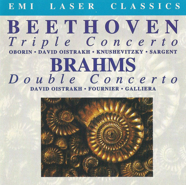 Beethoven / Brahms - Oborin, David Oistrakh, Knushevitzky, Sargent, Fournier, Galliera Triple Concerto / Double Concerto CD