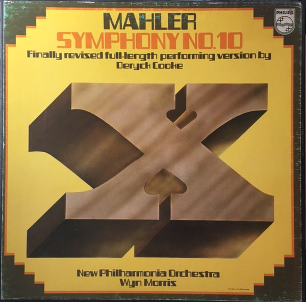 Mahler - Deryck Cooke, Wyn Morris Symphony No. 10 Vinyl
