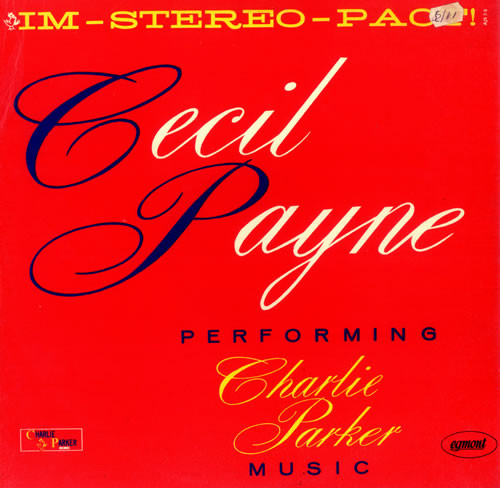 Payne, Cecil Performing Charlie Parker Music Vinyl