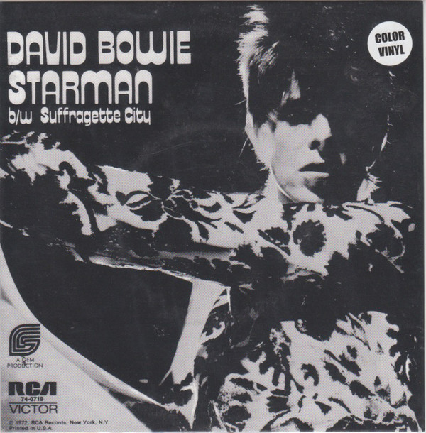 Bowie, David Starman b/w Suffragette City Vinyl