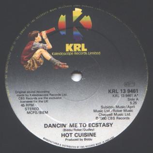 Hot Cuisine Dancin' Me To Ecstasy Vinyl