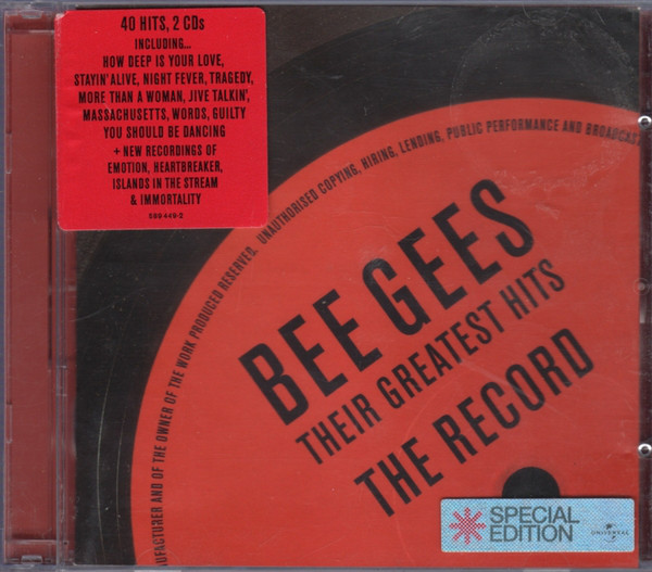 Bee Gees Their Greatest Hits - The Record