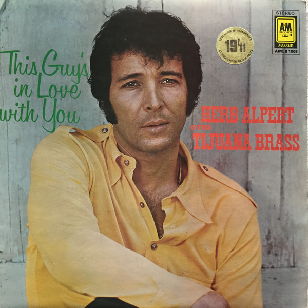 Herb Alpert & The Tijuana Brass This Guy's In Love With You Vinyl