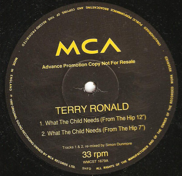 Ronald, Terry What The Child Needs