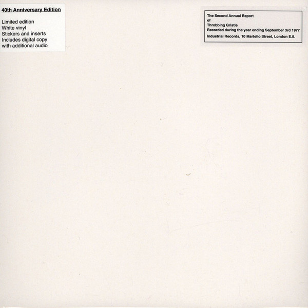 Throbbing Gristle The Second Annual Report Of Throbbing Gristle Vinyl