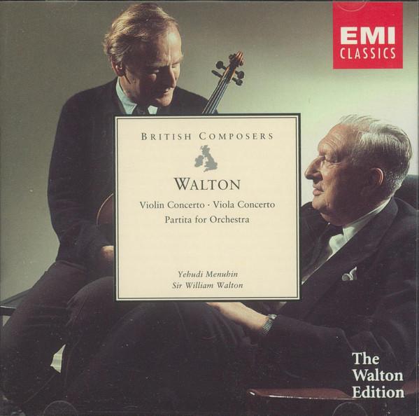 Walton - Yehudi Menuhin Violin & Viola Concertos - Partita For Orchestra CD