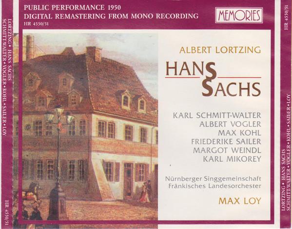 Lortzing - Schmidt-Walter, Vogler, Kohl, Sailer, Loy Hans Sachs Vinyl