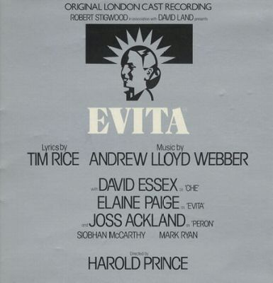 Webber, Andrew Lloyd & Rice Tim Evita: Original London Cast Recording Vinyl